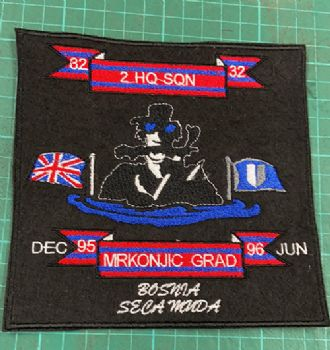 2 HQ SQN Bosnia embroidered badge